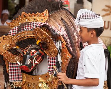 One Boy and his Barong, Ubud, Bali