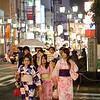 07JP233 Gion District Japan Kansai Kyoto Night Street