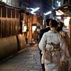 07JP336 Gion District Japan Kansai Kyoto Night Street