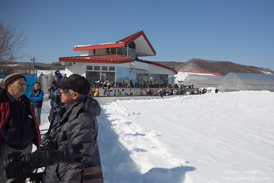 Photographers at the Akan Crane Center - Hokkaido, Japan