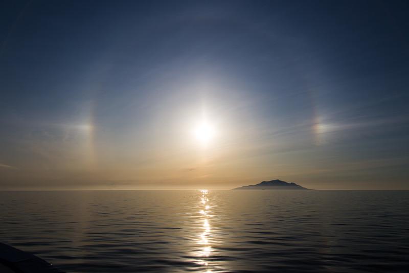 Sun-dog, Onekotan Island