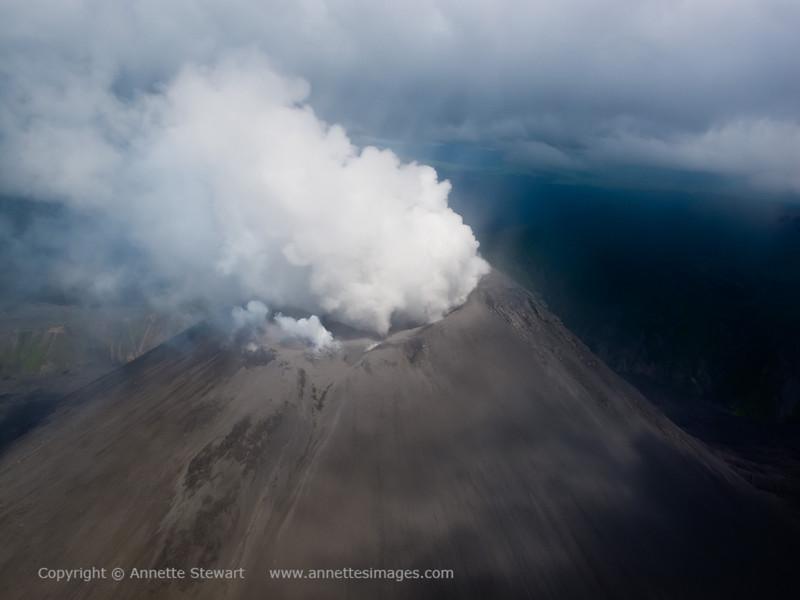 Karimsky - erupting