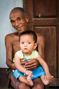 Grandson, Village near Luang Prabang