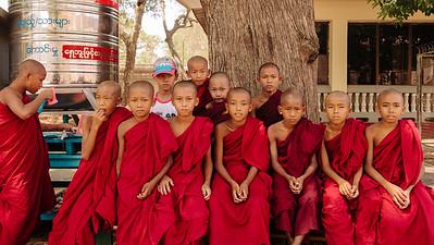 Young Monks at Ananda, Bagan