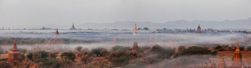 Morning Mist, Shwesandaw, Bagan