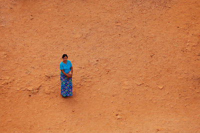 Alone at Sunset, Shwesandaw, Bagan