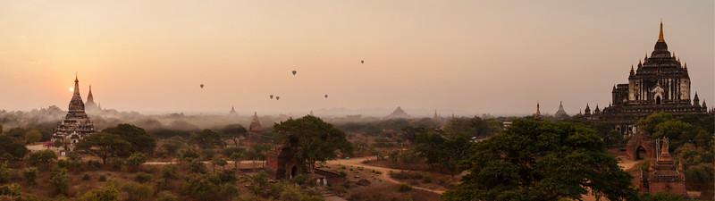 Dawn Panorama, Shwegugyi, Bagan