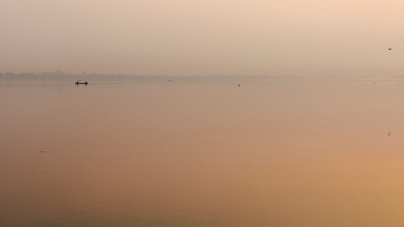 Dawn Fishing, Taungthaman Lake, Amarapura