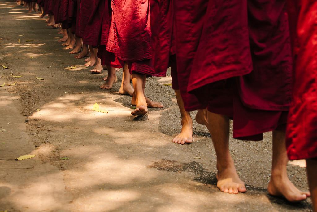 Barefoot, Mahagandayon Monastery, Amarapura