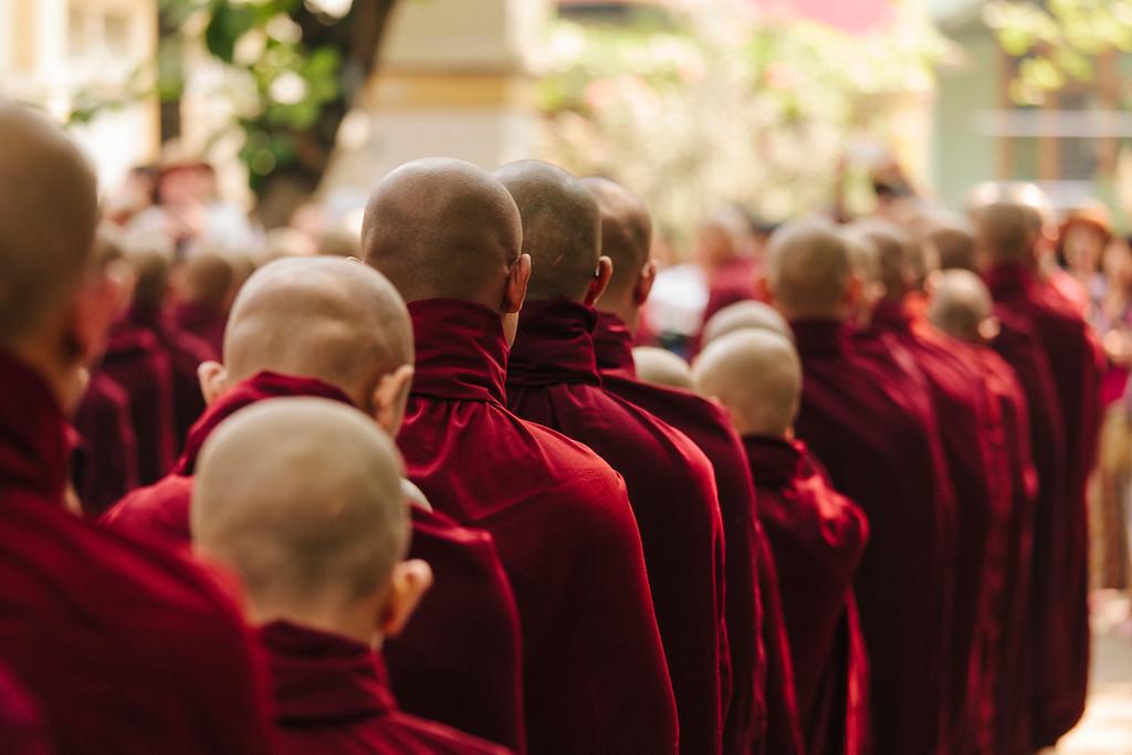 Monks, Mahagandayon Monastery, Amarapura