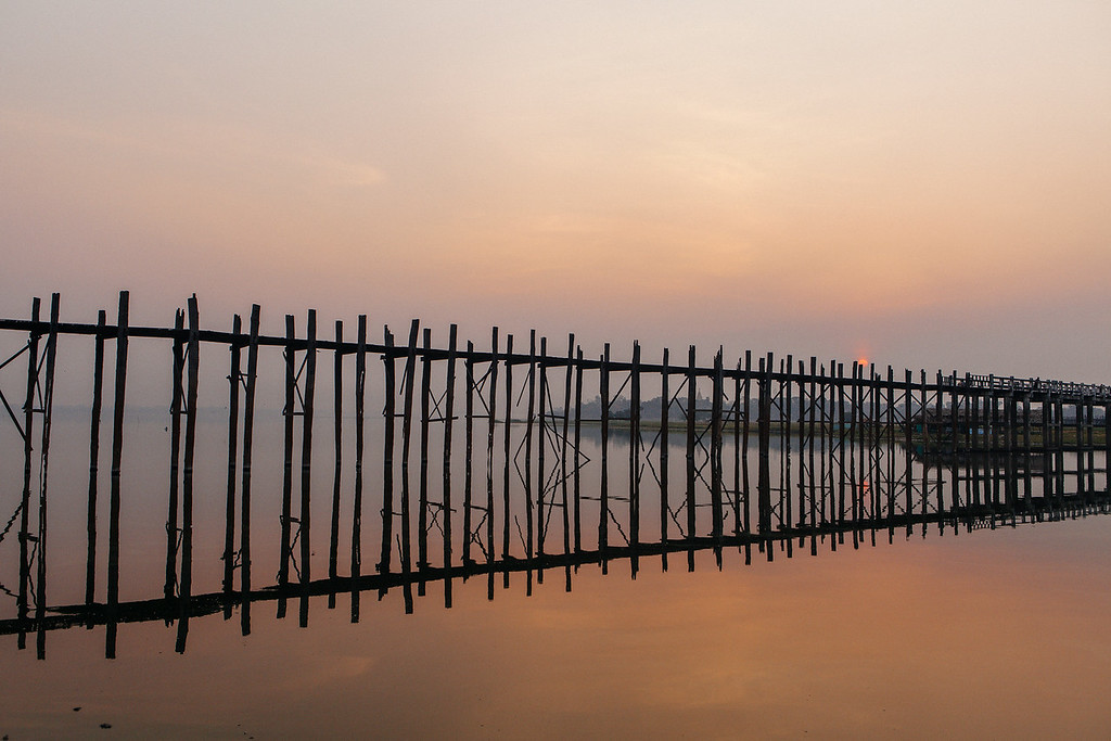Sunrise, U Bein Bridge, Amarapura