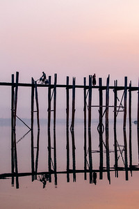 Sunrise at U Bein Bridge, Amarapura