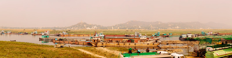 Pagodas and Petrol Pumps, Irrawady River