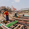 Ferrymen on the Yangon River, Yangon