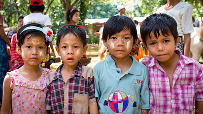 Kids at a Festival near Mawlamyine
