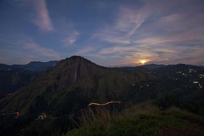 Moonset Over Ella Rock
