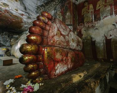 Reclining Buddha's Feet, Dambulla