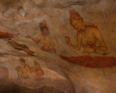 Frescoes, Sigiriya, Matale, Sri Lanka