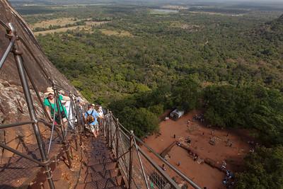 The Ascent to Sigiriya Rock