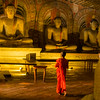 Young monk visiting Dambulla caves