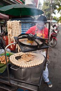 Sausage Vendor, Prapokkloa Road, Chiang Mai