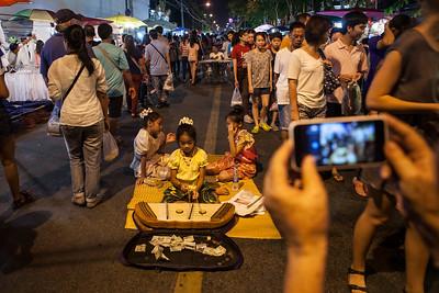 Child Musicians, Sunday Walking Street, Chiang Mai