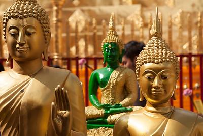 Buddhas, Wat Suthep, Chiang Mai