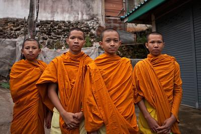 Young monks, Ban Doi Pui, Chiang Mai