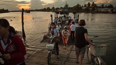 Ferry Boarding, Mekong Delta