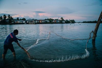 Dusk Fishing, Mekong River