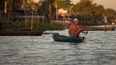 Fishing at Sunrise, Mekong River