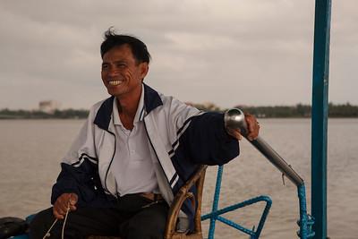 Boat Captain, Thu Bon River, Hoi An