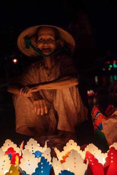 Floating Lantern Seller, Hoi An
