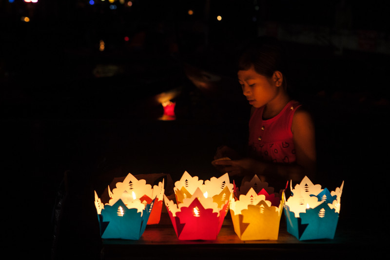 Young Lantern Seller, Hoi An