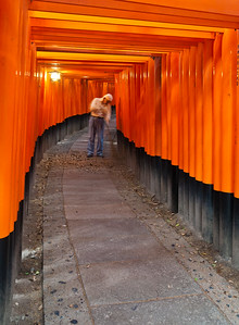 the fushimi shrine, south of kyoto