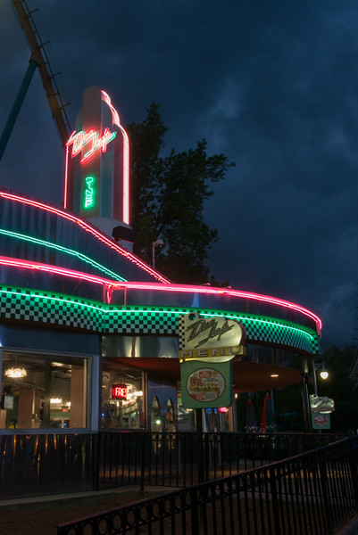 A burger joint at Six Flags over Georgia.