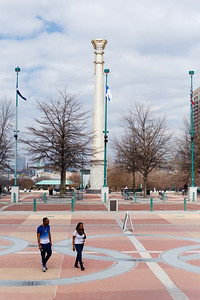 Walking through Olympic Park - Atlanta