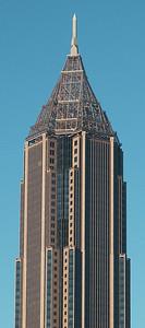 Top of the Bank of America Plaza Building in Atlanta