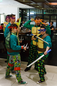 TMNT - Cosplay parade in lobby