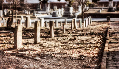 Graves of southern Civil War casualties in the Oakland Cemetery - Atlanta, GA