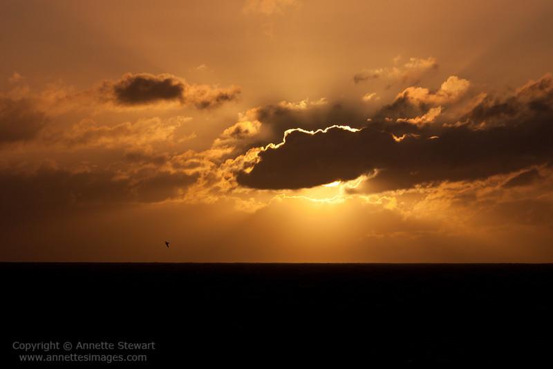 Sunset, south of Gough Island