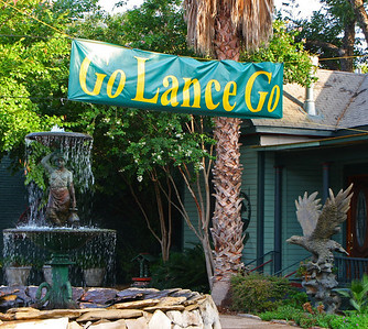 Austin loves Lance Armstrong.  A local law firm had this sign posted during Lance's historic comeback attempt at the 2009 Tour de France.