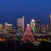 The Austin Christmas Tree welcomes visitors to The Trail of Lights, in Zilker Park, just south of downtown Austin