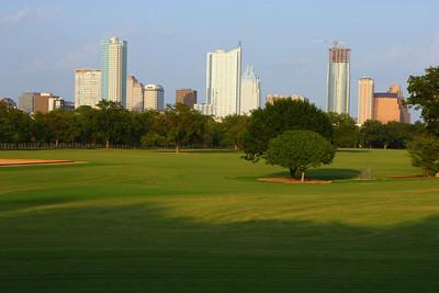 downtown Austin skyline from Zilker Park.