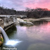 The lower falls at McKinney Falls State Park, Austin, TX on a cloudy winter morning.