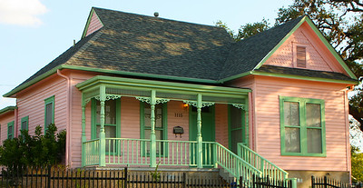 Pink house on the east side.