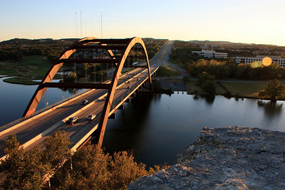 This big iron bridge on Loop 360 is commonly called the 360 bridge but its official name is the Pennybacker Bridge.
