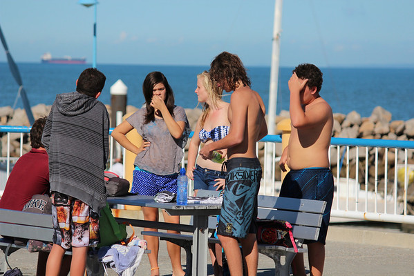 Teenagers Hanging Out, Redcliffe Jetty