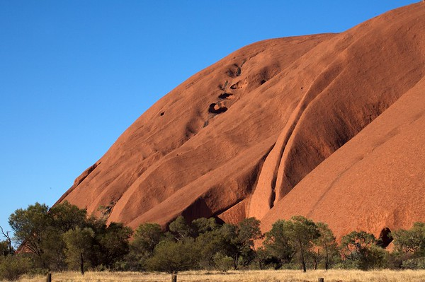 Side profile of Ayers Rock.