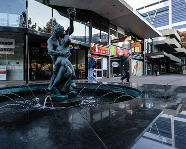 Garema Place fountain.